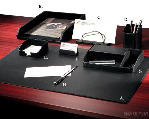 Exquisite Leather 8 - PC Desk Set